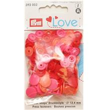 Love Color press fasteners Red 12.4mm