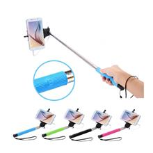 Mini Wired Selfie Stick Monopod 5F Foldable Colorful for Smartphone