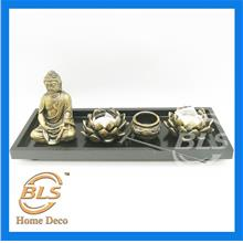 GOLDEN COLOR BUDDHA H 14 CM HY019B HOME DECORATION
