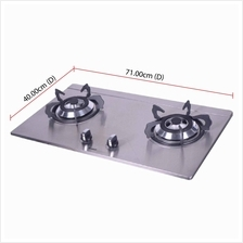 Khind Buit-in Cooker Hob HB802S (10cm) Stainless Steel Cooktop