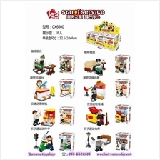 Brick Compatible CX 6600 Staff Worker Series Minifigure