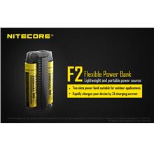 Nitecore F2 Dual Slots Flexible Power Bank Charger 14500/18350/18650