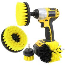4 Pcs Multi Use Electric Drill Brush Set Bristle Rotary Cleaning Tire