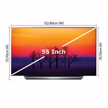 LG TV 55-Inch OLED 4K UHD Magic Remote Smart TV (2018 Model - OLED55C8PTA) 4 x