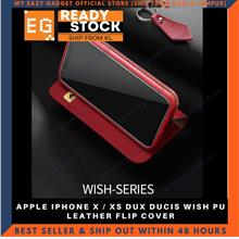 DUX DUCIS WISH PU LEATHER FLIP COVER FOR APPLE IPHONE X