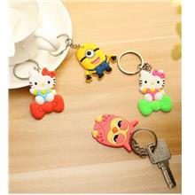 Cute Cartoon Silicone Keychain