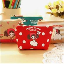 Korean Pula Girl Canvas Mini Pouch