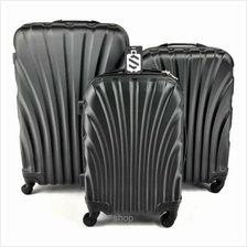 SKY TRAVELLER SKY282 ABS 3-in-1 Hard Case Shell Curve Shape Luggage (20+24+28 )