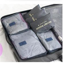 Travel Storage Organizer 6 pcs - Dark Blue Star