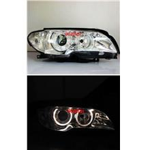 BMW E46 02  2D LED Ring Projector Head Lamp