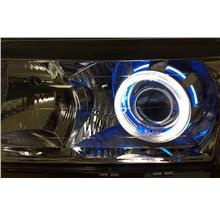 S80 99-03 Projector Head Lamp +2-Function DRL R8+Colour CCFL+Angel Eye