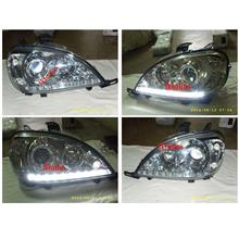 DEPO MERCEDES BENZ W163 '98-05  Projector Head lamp LED DRL R8 1-pair