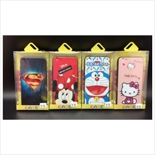 Oppo A57 A59 F1s R9s Plus Cartoon Case Cover & Tempered Glass