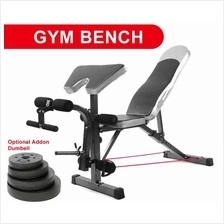 Gym Fitness Sit Up Dumbbell Bicep Leg Curl Bench Chair