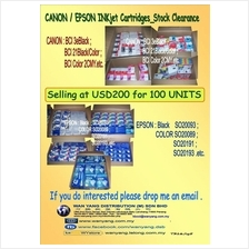 CANON / EPSON INKjet Cartridges   stock clearance