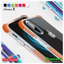 iPhone X 2 in 1 Military Grade Phone Case Transparent Anti Drop