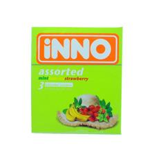 iNNO Assorted Flavour Condom / Kondom (Mint, Banana, Strawberry) - 3 p