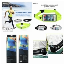 Rock Universal Mobile Phone Running Belt Waterproof Waist TOUCH SCREEN