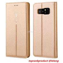Samsung Galaxy Note 8 Flip PU Leather Card Slot Case Cover Casing