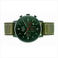 Alba Men Chronograph Leather Strap Watch VD53-X301BBL