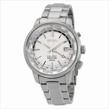SEIKO . SUN067P1 . Neo Sports . M . World Time . SSB . Kinetic Silver