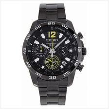 SEIKO . SSB131P1 . Sports . M . Chronograph . SSB . Quartz . Black