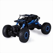 HB P1803 2.4GHZ 1:18 SCALE RC ROCK CRAWLER 4WD OFF-ROAD RACE TRUCK TOY (BLUE)