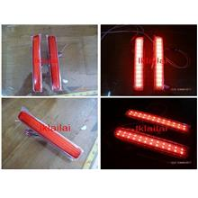 Perodua Myvi SE1 LED Rear Bumper Reflector [Red Lens] 48 LED