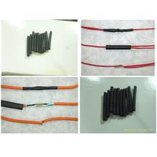 Heat Shrinkable Tubing Cable 4mm-Diameter [Black] 10pcs 5cm-long