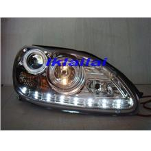 Mercedes Benz W220  S350 Crystal Projector Head Lamp [R8 LED DRL Look]