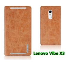 Lenovo Vibe X3 Flip Leather Stand Case Cover Casing + Free Gifts