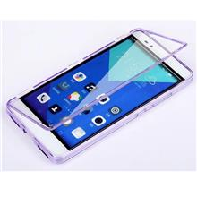 Huawei Honor 6 7 /6 Plus Transparent Flip Case Cover Casing +Free Gift