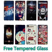 Huawei P8 /P8 Lite 3D Silicone Case Cover Casing + Free Tempered Glass