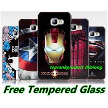 Samsung Galaxy A5 A7 2016 3D Relief Case Cover Casing + Tempered Glass
