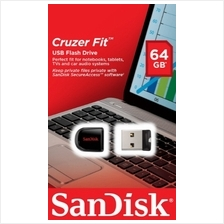 =SANDISK Flash Drive USB2 CRUZER 33 FIT 64GB (SDCZ33-064G-B35) BLACK