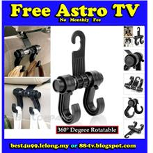 Car/Vehicle Hanger/Hook Bag Organizer with Double Hooks 360° Rotatable