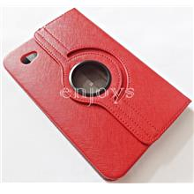 360 Rotate Leather Pouch Case Cover Samsung P1000 Galaxy Tab ~RED