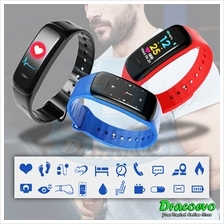 C1 Plus Smart Bracelet Blood Pressure Band Heart Rate Fitness Sport Wr