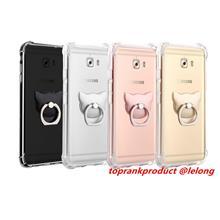 Samsung Galaxy C9 Pro ShockProof Silicone Case Cover Casing +Ring Hold