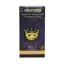 OKAMOTO SUPER THIN & SOFT CONDOM (kondom) - CROWN 12'S Pack