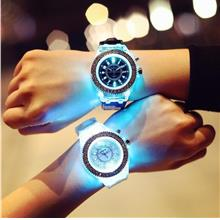 Korea Style Geneva LED Luminious Watch -Watches 437