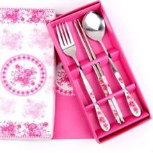 Wedding Gift~ Portable Stainless Steel Dinner Set 3pcs (Pink)