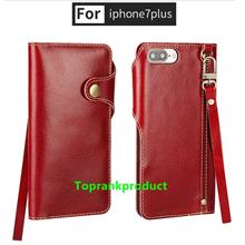 Cow Leather Apple iPhone 7 / Plus Flip Wallet Case Cover Casing + Gift