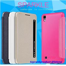 100% Nillkin LG X Power Flip Smart Sparkle Leather Case Cover Casing
