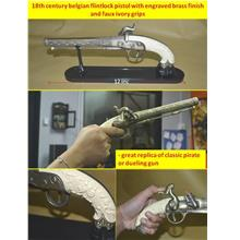 LELONG FREE POS 18TH CENTURY BELGIAN FLINTLOCK PISTOL WITH ENGRAVED B