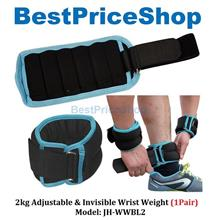 2kg Adjustable Invisible Wrist Weight Boxing Basketball Jogging 1pair