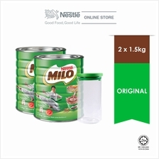 NESTLE MILO ACTIV-GO CHOCOLATE MALT POWDER Tin 1.5kg x2 tins)
