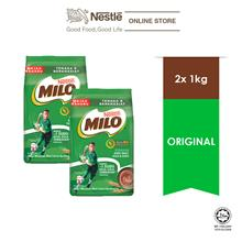 NESTLÉ MILO ACTIV-GO CHOCOLATE MALT POWDER Soft Pack 1kg x2 packs)