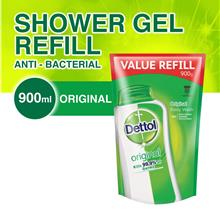 Dettol Shower gel 900ml refill pouch x 6)