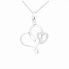 Lazo Diamond Beloved Vow 9K White Gold Diamond Pendant - DPB226)